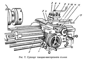 Каретка 1К62. Схематический рисунок.