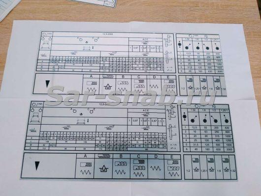 Комплект табличек 1К62Д, 1К625Д