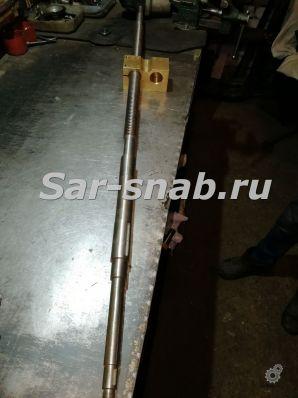 Винт каретки с квадратной гайкой для станка 1М63 Тбилиси
