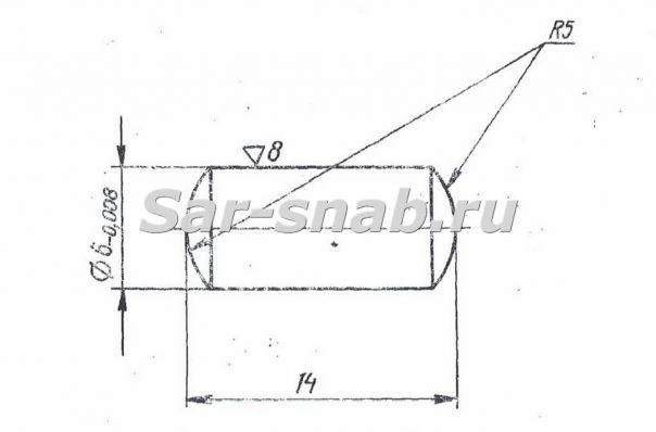 Ролик 3Б71М.25.47 чертеж