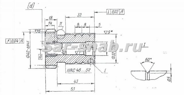 Поршень-шестерня 3Б71М.21.34 чертеж
